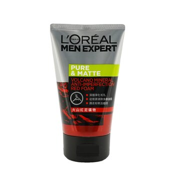 Men Expert Pure & Matte Volcano Red Foam (Tube)  100ml/3.4oz