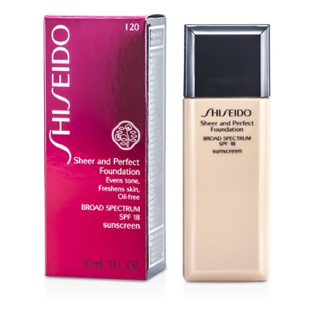 Shiseido Sheer & Perfect Foundation SPF 18 - # I20 Natural Light Ivory  30ml/1oz
