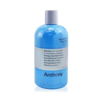 Anthony Logistics For Men Blue Sea Kelp Body Scrub - Pembersih Tubuh  355ml/12oz