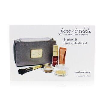 Jane Iredale Kit Starter (6 Piezas): 1xPrimer & Iluminante, 1xPolvo Mineral Suelto, 1xBase Mineral, ... - # Medium  6pcs