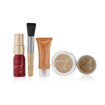 Jane Iredale Starter Kit (6 Pieces): 1xPrimer & Brighter, 1xLoose Mineral Powder, 1xMineral Foundation, ... - # Medium Dark  6pcs