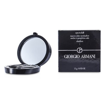 Giorgio Armani Eyes to Kill Solo Eyeshadow - # 01 Obsidian  1.5g/0.053oz