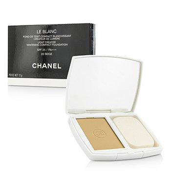 Chanel Le Blanc Light Creator Whitening Compact Foundation SPF 25 - # 20 Beige  12g/0.42oz