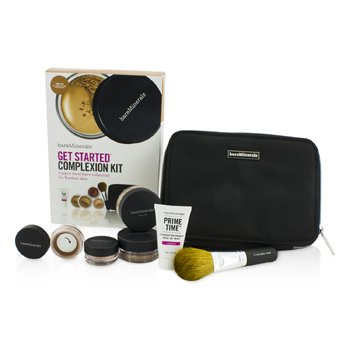 BareMinerals Kit BareMinerals Get Started Complexion For Flawless Skin - # Golden Tan  6pcs+1clutch
