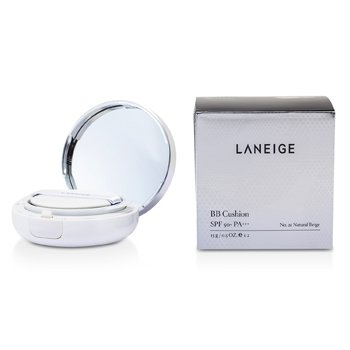 Laneige BB Cushion Foundation SPF 50 With Extra Refill - Alas Bedak - # No. 21 Natural Beige  2x15g/0.5oz