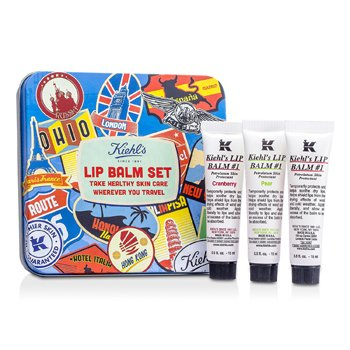 Kiehl's Lip Balm #1 Set: Lip Balm #1 15ml/0.5oz + Lip Balm #1 Cranberry 15ml/0.5oz + Lip Balm #1 Pear 15ml/0.5oz - Balsem Bibir  3x15ml/0.5oz