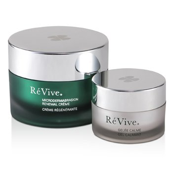 Microdermabrasion Renewal System: Renewal Creme 100ml/3.3oz + Gelee Calme 30ml/1oz (White Gift Box)  2pcs