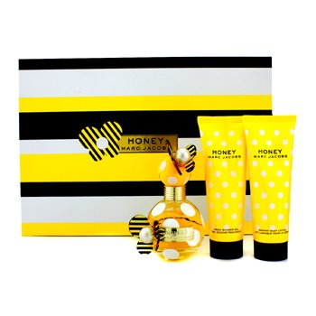 Marc Jacobs Honey Coffret: Eau De Parfum Spray 50ml/1.7oz + Body Lotion 75ml/2.5oz + Shower Gel 75ml/2.5oz  3pcs
