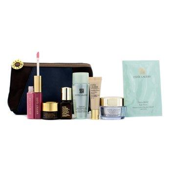 Estee Lauder Set de Viaje: Loci�n Optimizante + Hydrationist Crema + ANR II + ANR Ojos + M�scara de Ojos + Base #36 + Lipgloss #04 & 26 + Bolso  7pcs+1bag