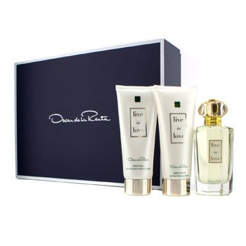 Oscar De La Renta Live In Love Coffret: Eau De Parfum Spray 100ml/3.4oz + Body Lotion 100ml/3.4oz + Body Wash 100ml/3.4oz  3pcs
