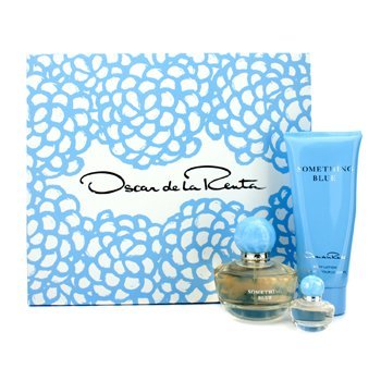 Oscar De La Renta Zestaw Something Blue Coffret: Eau De Parfum Spray 50ml/1.7oz + Body Lotion 100ml/3.4oz + Eau De Parfum Miniature 4ml/0.13oz  3pcs