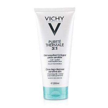 Vichy Purete Thermale 3 In 1 One Step Cleanser (For Sensitive Skin)  200ml/6.76oz