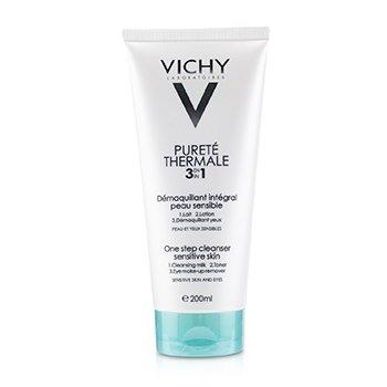 Vichy Purete Thermale 3 In 1 One Step Cleanser -תכשיר ניקוי בשלב אחד לעור רגיש  200ml/6.76oz