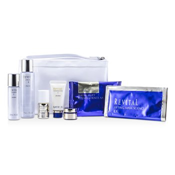 Revital Set: Cleansing Foam 20g + Lotion EX II 75ml + Serum 10ml + Moisturizer EX II 30ml + Cream 7ml + Eye Mask + Mask + Bag  7pcs+1bag
