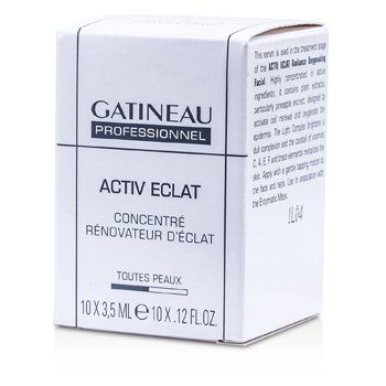 Gatineau Active Eclat Radiance Renovating Concentrate (Salon Size)  10x3.5ml/0.12oz