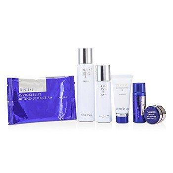 Revital Set: Cleansing Foam I 20g+Lotion EX II 75ml+Moisturizer EX II 30ml+Lotion AA 20ml+Cream AAA 7ml+Eye Mask 1pair+Bag  6pcs+1bag