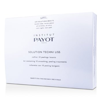 Payot Oczyszczająca kuracja do twarzy i szyi na noc Solution Techni Liss - Smoothing & Peeling Treatments For Face & Neck (produkt profesjonalny)  10treatments