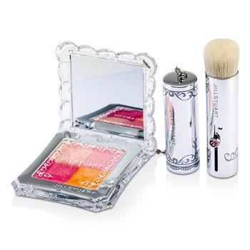 Mix Blush Compact N (4 Color Blush Compact + Brush)  8g/0.28oz