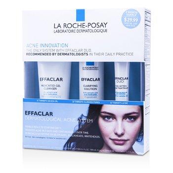 Effaclar Dermatological Acne System: Gel Cleanser 100ml + Clarifying Solution 100ml + Acne Treament 20ml 3pcs