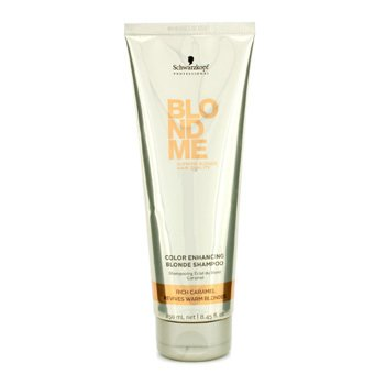 Schwarzkopf Blondme Color Enhancing Blonde Champú - Rich Caramel (Revive Rubios Suaves)  250ml/8.45oz