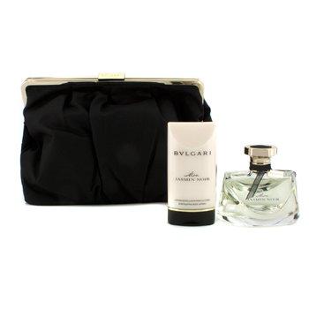 Bvlgari Kit Mon Jasmin Noir: Eau De Parfum Spray 75ml/2.5oz + Loção Corporal 75ml/2.5oz + Necessaire  2pcs+1pouch