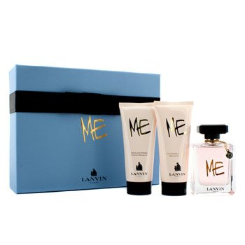 Lanvin Me Coffret: Eau De Parfum Spray 80ml/2.6oz + Loci�n Corporal 100ml/3.3oz + Gel de Ducha 100ml/3.3oz  3pcs