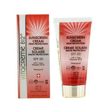 Sunscreen Cream High Protection SPF 50 (Waterproof)  50ml/1.76oz