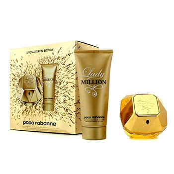 Paco Rabanne Lady Million Special Travel Edition szett: Eau De Parfüm spray 80ml/2.7oz + érzéki testápoló lotion 100ml/3.4oz  2pcs