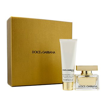 Dolce & Gabbana The One Coffret: Eau De Parfum Spray 30ml/1oz + Loción Corporal 50ml/1.6oz (Caja Dorada Champagne)  2pcs