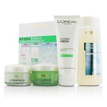 L'Oreal Hydrafresh Aqua Experience: Mask-In Lotion 200ml + Gel Foam 100ml + Aqua-Essence 50ml + Gel-Cream 50ml  4pcs