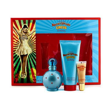 Britney Spears Circus Fantasy Set: Apă de Parfum Spray 50ml/1.7oz + Sufleu pentru Corp 100ml/3.3oz + Luciu Buze 8ml/0.27oz  3pcs