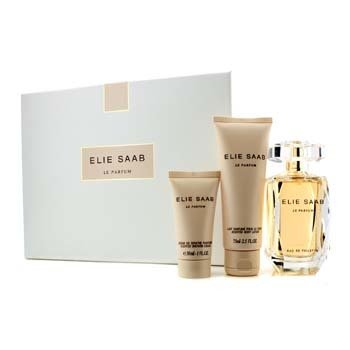 Elie Saab Le Parfum Coffret: Eau De Toilette Spray 90ml/3oz + Scented Body Lotion 75ml/2.5oz + Shower Cream 30ml/1oz  3pcs