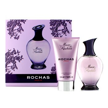 Rochas Muse De Rochas Coffret: Eau De Parfum Spray 100ml/3.3oz + Body Lotion 150ml/5oz  2pcs