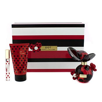 Marc Jacobs Dot Coffret:Eau De Parfum Spray 100ml/3.4oz + Body Lotion 150ml/5.1oz + Eau De Parfum Rollerball 10ml/0.33oz.  3pcs