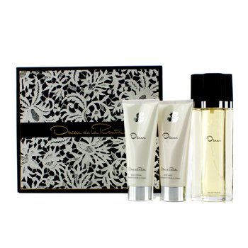 Oscar De La Renta Oscar Coffret: Eau De Toilette Spray 100ml/3.4oz + Loción Corporal 100ml/3.4oz + Gel de Baño Corporal 100ml/3.4oz  3pcs