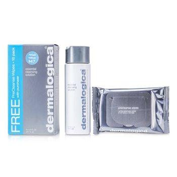 Dermalogica Solución Limpiadora Esencial (Regalo Gratis; Paquete de 10 Pañuelitos Pre Limpiadores)  250ml/8.3oz