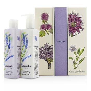 Crabtree & Evelyn Lavender Perfect Pair: Gel de Baño & Ducha 250ml + Loción Corporal 245ml  2pcs