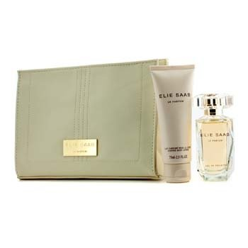 Elie Saab Le Parfum szett: Eau De Toilette spray 50ml/1.6oz + testápoló lotion 75ml/2.5oz + Beauty táska  3pcs+1pouch