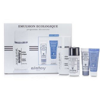 Sisley Kit Ecological Compound Discovery: Compuesto Ecol�gico de D�a & Noche 50ml, Global Perfecto 10ml, Express Flower Gel 10ml...  4pcs