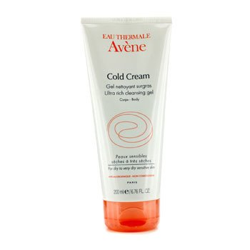 Avene Cold Cream Ultra Rich Cleansing Gel (For Dry & Very Dry Sensitive Skin)  200ml/6.76oz