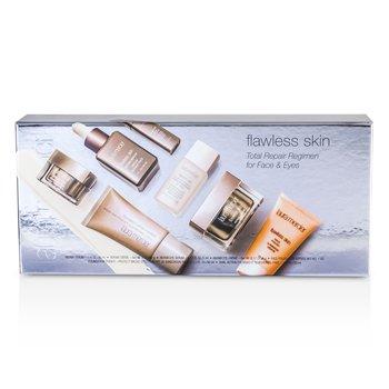 Laura Mercier Flawless Skin Total Repair Regimen for Face & Eyes: Creme 30g + Serum 30ml + Eye Makeup Remover 30ml + Face Polish 28g + Eye Cream 5g + Eye Serum 5ml + Primer 30ml  7pcs