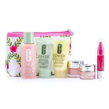 Clinique Travel Set: Lotion 3 60ml + D.D.M.G 30ml + Soap 30ml + Moisture Surge 15ml + All About Eyes 7ml + Chubby Stick 3ml + Bag  6pcs+1bag