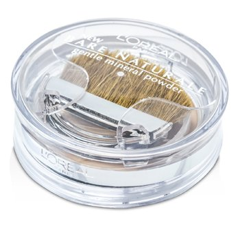 L'Oreal Bare Naturale Gentle Mineral Powder Compact with Brush - No. 420 Sun Beige  9.5g/0.33oz