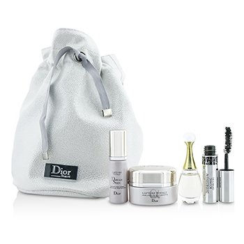 Christian Dior Set de Viaje: Capture Totale Crema  15ml + Dreamskin 7ml + J'Adore EDP 5ml + M�scara 4ml + Bag  4pcs+1bag