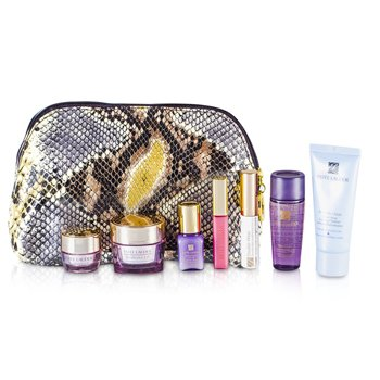 Estee Lauder Set de Viaje: Limpiador 30ml + Optimizador 30ml + Crema de Cuello 15ml + Suero 7ml + Crema de Ojos 5ml + M�scara #01 + Brillo de Labios #26 + Bolso  7pcs+1bag