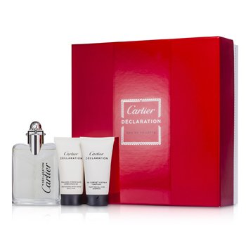 Cartier Declaration Kofre: Eau De Toilette Sprey 50ml/1.6oz + Her Yere Şampuan 30ml/1oz + After Shave Emülsiyonu 30ml/1oz  3pcs