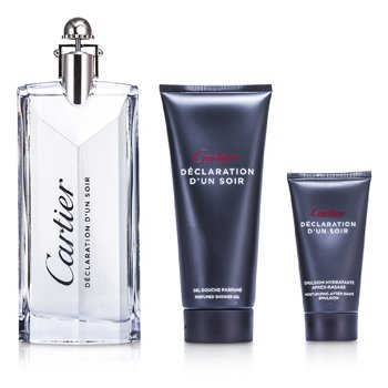 Declaration d'un Soir Coffret: Eau De Toilette Spray 100ml/3.3oz + Shower Gel 100ml/3.3oz + After Shave Emulsion 30ml/1oz  3pcs