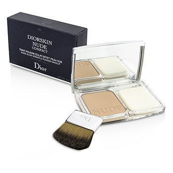 Christian Dior Diorskin Nude Compact Nude Glow Polvo de Maquillaje Versátil SPF 10 - # 032 Rosy Beige  10g/0.35oz