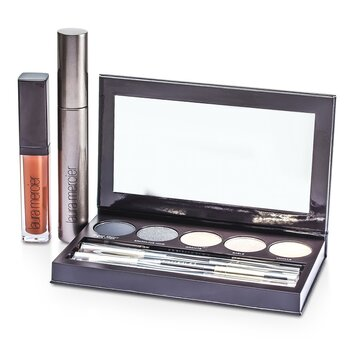 Laura Mercier Classic Smoky Eye Palette Collection (1xMascara, 1xLip Glace, 1xCake Eye Liner, 4xEye Colour, 3xBrush)  10pcs
