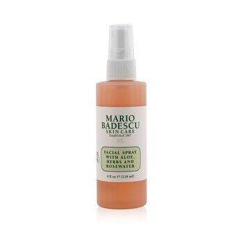 Facial Spray With Aloe, Herbs & Rosewater - For All Skin Types  118ml/4oz